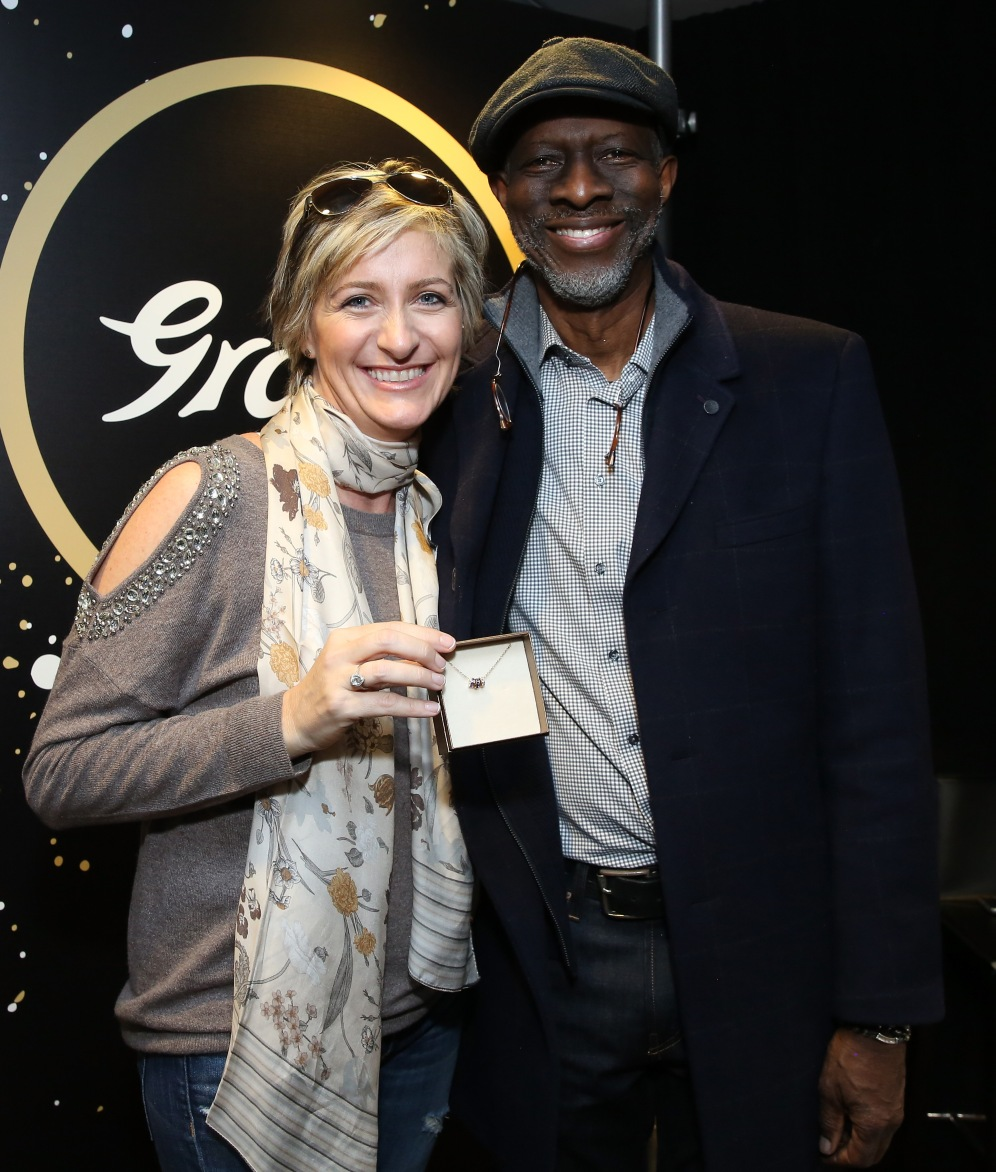 Robbie Brooks Moore (L) and Musician Kevin 'Keb Mo' Moore attends the GRAMMY Gift Lounge during the 60th Annual GRAMMY Awards at Madison Square Garden