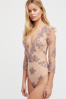 Amber Scallop Edge Bodysuit from Free People - www.freepeople.com