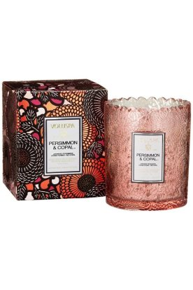 Voluspa Persimmon & Copal Scalloped Candle from Mixology Clothing Company - www.shopmixology.com