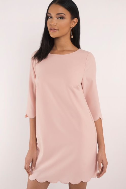 SWEETLY SCALLOPED ROSE SHIFT DRESS from Tobi - www.tobi.com