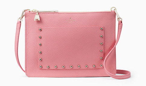 On Purpose Pink Sunset Studded Leather Crossbody from Kate Spade - www.katespade.com