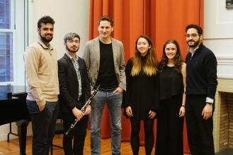 VPS Clarinet Master Class Carnegie Hall Jay Shankar, Phillip Solomon, Daniel Ottensamer, Sara Han, Katia Waxman, Amer Hasan