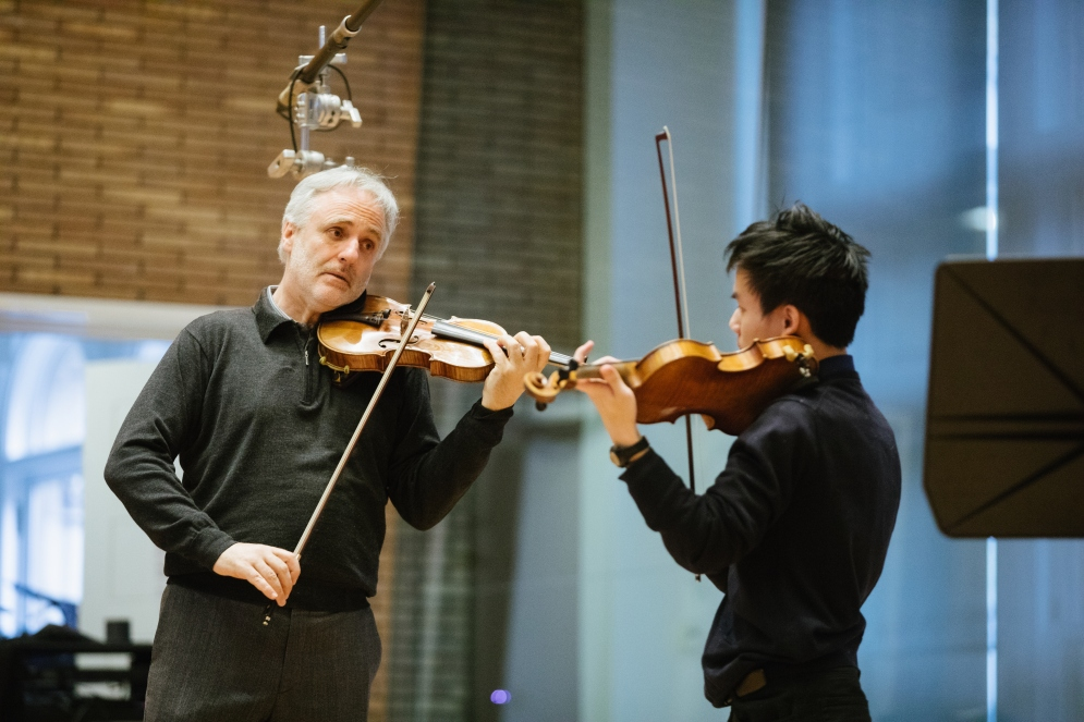VPS Master Classes Rainer Honeck, William Yao at Carnegie Hall