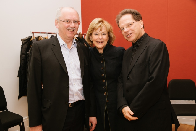 VPO Trumpeter Peter Schuh, Cynthia Sculco, VPO Vice Chairman Alexander Steinberger