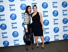 NEW YORK, NY - MARCH 08: Rachel Roy and Ashley Graham Pose at the UNFPA Annual Awards Luncheon on March 8, 2018 in New York City. (Photo by Aurora Rose/Patrick McMullan via Getty Images)