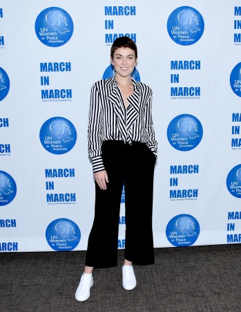 NEW YORK, NY - MARCH 08: Serinda Swan poses at the UNWFPA Annual Awards Luncheon on March 8, 2018 in New York City. (Photo by Aurora Rose/Patrick McMullan via Getty Images)