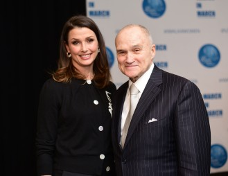 NEW YORK, NY - MARCH 08: Bridget Moynahan and Raymond Kelly pose at the UNWFPA Annual Awards Luncheon on March 8, 2018 in New York City. (Photo by Aurora Rose/Patrick McMullan via Getty Images)