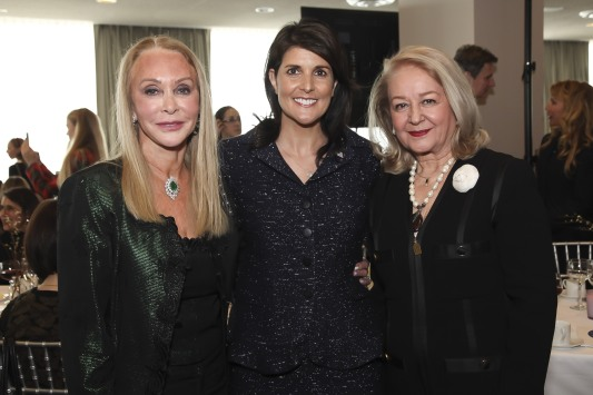 NEW YORK, NY - MARCH 08: Barbara Winston, H.E. Ambassador Nikki Haley and Avideh Ghaffari attend the UNWFPA Annual Awards Luncheon in Celebration of International Women's Day on March 8, 2018 in New York City. (Photo by Amber De Vos/Patrick McMullan via Getty Images)