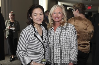 NEW YORK, NY - MARCH 08: Winnie Feng and Sharon Bush attend the UNWFPA Annual Awards Luncheon in Celebration of International Women's Day on March 8, 2018 in New York City. (Photo by Amber De Vos/Patrick McMullan via Getty Images)