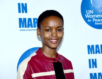 NEW YORK, NY - MARCH 08: Flaviana Matata Poses at the UNWFPA Annual Awards Luncheon on March 8, 2018 in New York City. (Photo by Aurora Rose/Patrick McMullan via Getty Images)