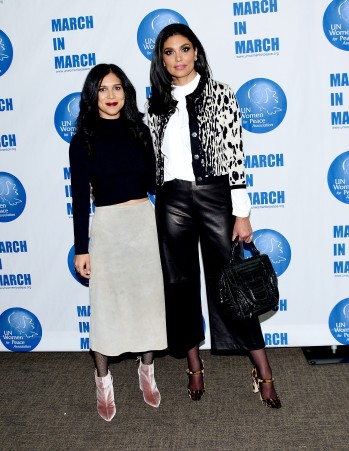 NEW YORK, NY - MARCH 08: Shadi Mehraein and Rachel Roy Pose at the UNWFPA Annual Awards Luncheon on March 8, 2018 in New York City. (Photo by Aurora Rose/Patrick McMullan via Getty Images)
