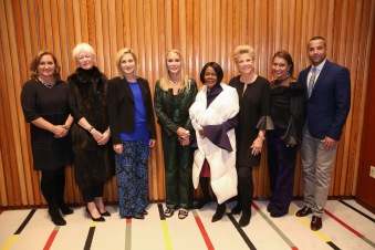 NEW YORK, NY - MARCH 08: (L-R) Cyma Zarghami, Joanna Coles, Edie Falco, Barbara Winston, Cicely Tyson, Joan Lunden, Muna Rihani Al-Nasser and Sherwin Bryce-Pease attend International Women's Day The Role of Media To Empower Women Panel Discussion at the United Nations on March 8, 2018 in New York City. (Photo by Rob Kim/Getty Images)