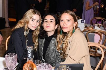 Ashley Olsen, Margot Sarkozy, Mary-Kate Olsen== YAGP Stars of Today Meet The Stars of Tomorrow 2018 Gala== David Koch Theatre at Lincoln Center, New York, NY== April 19, 2018== ©Patrick McMullan== Photo - Presley Ann/PMC== ==