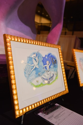 Original Drawings by Eloise Books CoCreator Hilary Knight for YAGP's Set Design being Auctioned Off