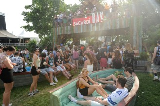 NEW YORK, NY - JUNE 02: A general overview of BACARDI Bay At Governors Ball Music Festival 2018 at Randall's Island on June 2, 2018 in New York City. (Photo by Brad Barket/Getty Images for Bacardi)