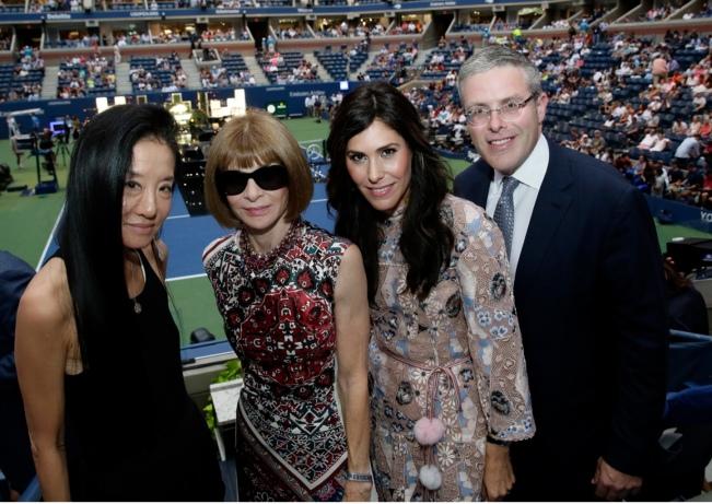 era Wang, Anna Wintour, Cheryl Scharf, Y. David Scharf