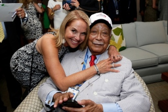 Katie Couric and David Dinkins