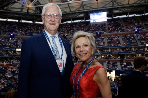 Gordon Smith (USTA COO) and Marcy Maguire (advisory board member)