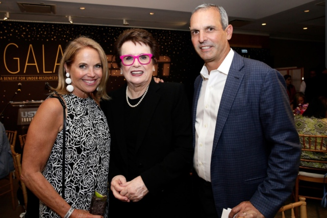 Katie Couric, Billie Jean King, John Molner