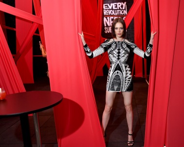 BROOKLYN, NY - SEPTEMBER 05: Coco Rocha attends the Refinery29 29Rooms New York 2018: Expand Your Reality Opening Party on September 5, 2018 in Brooklyn City. (Photo by Nicholas Hunt/Getty Images for Refinery29)