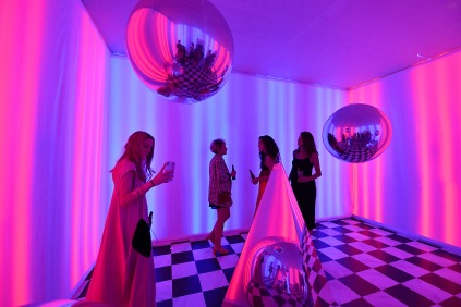 BROOKLYN, NY - SEPTEMBER 05: Guests dance during the Expand Your Reality Opening Party on September 5, 2018 in Brooklyn City. (Photo by Dia Dipasupil/Getty Images for Refinery29)