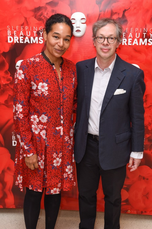 "Desiree Berggruen and Olivier Berggruen attend Meet The Artists Creating ""Sleeping Beauty Dreams"" at Guggenheim Museum on September 13, 2018 in New York. (Photo by Presley Ann/PMC)"