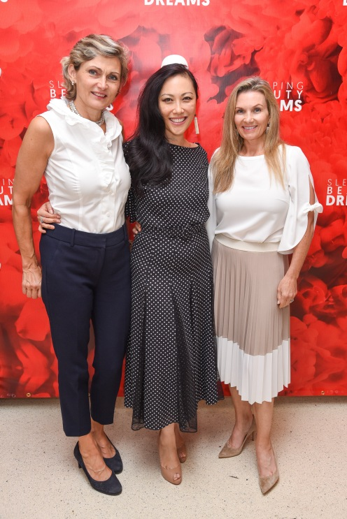 "Isabelle Harnoncourt Feigen, Allison Tang, Alexandra Altman attend Meet The Artists Creating ""Sleeping Beauty Dreams"" at Guggenheim Museum on September 13, 2018 in New York. (Photo by Presley Ann/PMC)"