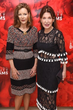 "Margo Morton Langenberg and Victoria Wyman attend Meet The Artists Creating ""Sleeping Beauty Dreams"" at Guggenheim Museum on September 13, 2018 in New York. (Photo by Presley Ann/PMC)"