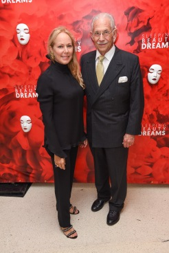 "Maria Maury Haseltine and Bill Haseltine attend Meet The Artists Creating ""Sleeping Beauty Dreams"" at Guggenheim Museum on September 13, 2018 in New York. (Photo by Presley Ann/PMC)"