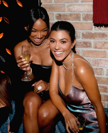 CHICAGO, IL - SEPTEMBER 15: Malika Haqq and Kourtney Kardashian attend the TAO Chicago Grand Opening Celebration at TAO Chicago on September 15, 2018 in Chicago, Illinois. (Photo by Jeff Schear/Getty Images for TAO Chicago)