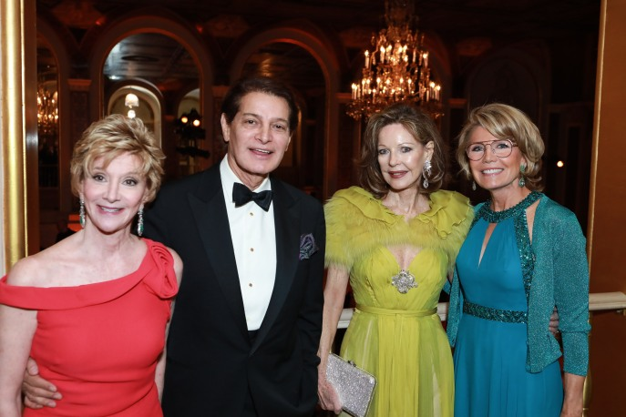 NEW YORK, NY - OCTOBER 16: Jackie Weld Drake, Edgar Batista, Margo Langenberg and Christine Schwarzman attend Casita Maria Fiesta 2018 at The Plaza Hotel on October 16, 2018 in New York. (Photo by Gonzalo Marroquin/PMC) *** Local Caption *** Jackie Weld Drake;Edgar Batista;Margo Langenberg;Christine Schwarzman