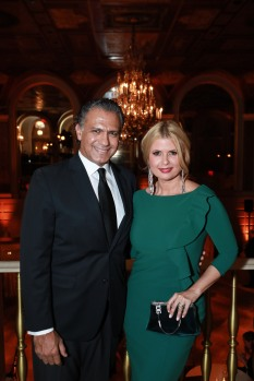 NEW YORK, NY - OCTOBER 16: Moataz El Refaie and Sissi Fleitas Refaie attend Casita Maria Fiesta 2018 at The Plaza Hotel on October 16, 2018 in New York. (Photo by Gonzalo Marroquin/PMC) *** Local Caption *** Moataz El Refaie;Sissi Fleitas Refaie