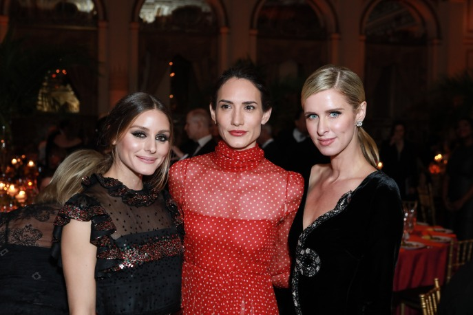 NEW YORK, NY - OCTOBER 16: Olivia Palermo, Zani Gugelmann and Nicky Hilton Rothschild attend Casita Maria Fiesta 2018 at The Plaza Hotel on October 16, 2018 in New York. (Photo by Gonzalo Marroquin/PMC) *** Local Caption *** Olivia Palermo;Zani Gugelmann;Nicky Hilton Rothschild