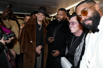 Evan Ross and Jamie Foxx