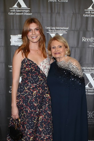 Hannah Jacobs and Joan Jacobs attend LLIMF 10th Anniversary Gala Dinner at Cipriani 25 Broadway on October 10, 2018 in New York. (Photo by Krista Kennell/PMC)