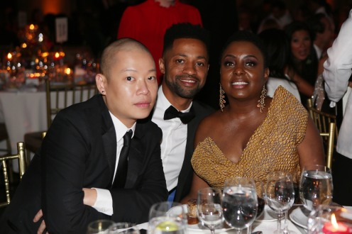 Jason Wu, Ron Young and Ledisi attend LLIMF 10th Anniversary Gala Dinner at Cipriani 25 Broadway on October 10, 2018 in New York. (Photo by Krista Kennell/PMC)