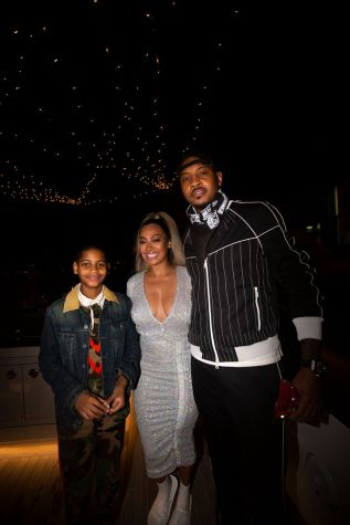 Lala and Carmelo Anthony with their son