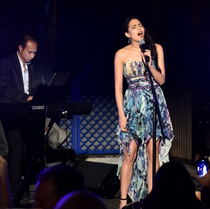 Singer Arielle Jacobs performs at the Together1Heart Foundation Gala at TAO Downtown in New York, NY on October 1, 2018. (Photo by Stephen Smith/Guest of a Guest)