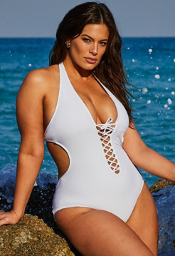 ASHLEY GRAHAM X SWIMSUITS FOR ALL VIP WHITE SWIMSUIT