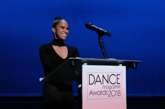 Misty Copeland opening the 2018 Dance Magazine Awards