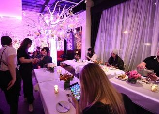 "NEW YORK, NY - FEBRUARY 06: Guests attend the Candy Crush Friends Saga ""Sweet n Solo"" Valentine's Day Dining Experience at Dirt Candy on February 6, 2019 in New York City. (Photo by Ilya S. Savenok/Getty Images for King Games)"