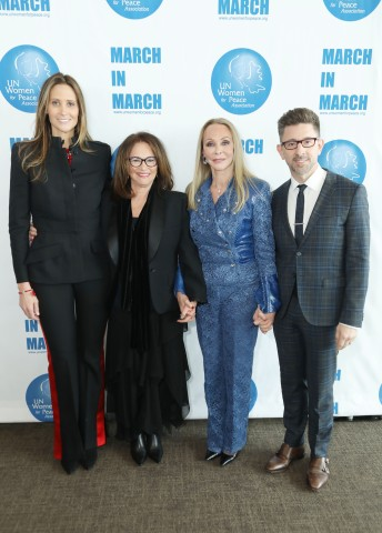 NEW YORK, NEW YORK - MARCH 01: (L-R) Robin Stern, Stephanie Winston Wolkoff, Barbara Winston and Marc Brackett attend the UN Women For Peace Association 2019 Awards Luncheon at United Nations Headquarters on March 01, 2019 in New York City. (Photo by Gonzalo Marroquin/Patrick McMullan via Getty Images)