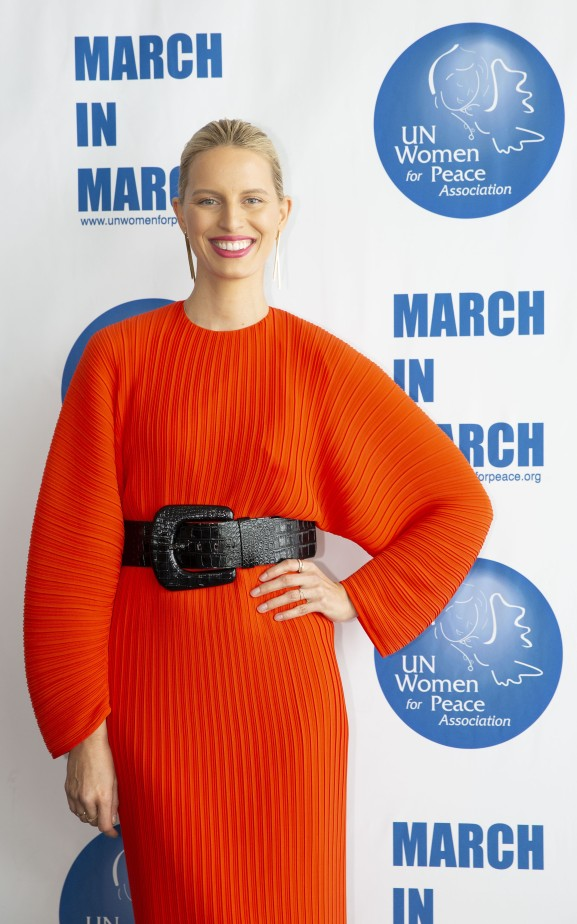NEW YORK, NEW YORK - MARCH 01: Karolina Kurkova attends the UN Women For Peace Association 2019 Awards Luncheon at United Nations Headquarters on March 01, 2019 in New York City. (Photo by noa grayevsky/Getty Images for RSL Mgmt)