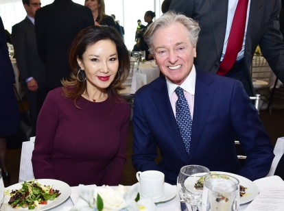 NEW YORK, NEW YORK - MARCH 01: Keiko Ono Aoki and Geoffrey Bradfield attend the UN Women For Peace Association 2019 Awards Luncheon at United Nations Headquarters on March 01, 2019 in New York City. (Photo by Sean Zanni/Patrick McMullan via Getty Images)
