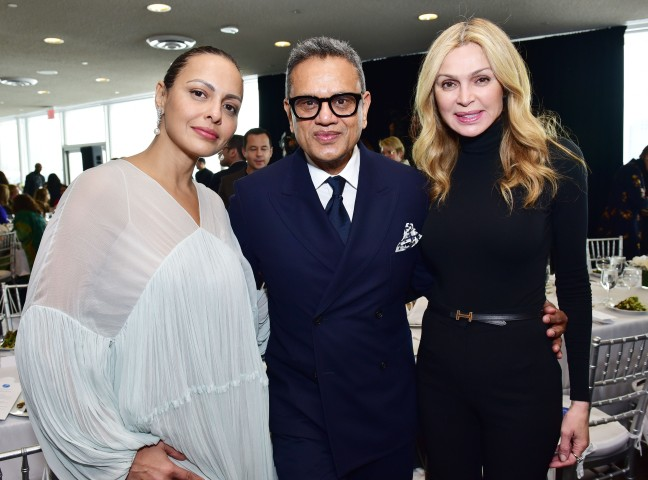 NEW YORK, NEW YORK - MARCH 01: (L-R) Jot Sandhu, Naeem Khan and Sheikha Rima Al-Sabah attend the UN Women For Peace Association 2019 Awards Luncheon at United Nations Headquarters on March 01, 2019 in New York City. (Photo by Sean Zanni/Patrick McMullan via Getty Images)