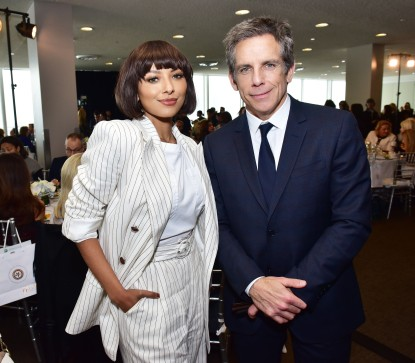NEW YORK, NEW YORK - MARCH 01: Kat Graham and Ben Stiller attend the UN Women For Peace Association 2019 Awards Luncheon at United Nations Headquarters on March 01, 2019 in New York City. (Photo by Sean Zanni/Patrick McMullan via Getty Images)