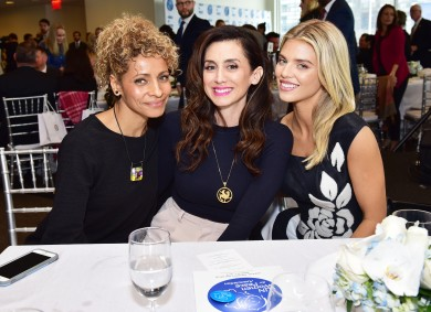 NEW YORK, NEW YORK - MARCH 01: (L-R) Michelle Hurd, Mozhan Marno and AnnaLynne McCord attend the UN Women For Peace Association 2019 Awards Luncheon at United Nations Headquarters on March 01, 2019 in New York City. (Photo by Sean Zanni/Patrick McMullan via Getty Images)