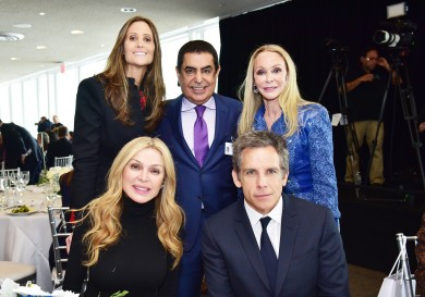 NEW YORK, NEW YORK - MARCH 01: (L-R) Stephanie Winston Wolkoff, Sheikha Rima Al-Sabah, Nassir Abdulaziz Al-Nasser, Ben Stiller and Barbara Winston attend the UN Women For Peace Association 2019 Awards Luncheon at United Nations Headquarters on March 01, 2019 in New York City. (Photo by Sean Zanni/Patrick McMullan via Getty Images)
