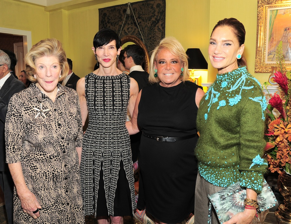 NEW YORK, NY - APRIL 17: Agnes Gund, Amy Fine Collins, Joanna Fisher and Tracey Amon attend Amy Fine Collins and Joanna Fisher Host Luncheon For Tabula Rasa Dance Theater at Private Residence on April 17, 2019 in New York. (Photo by Owen Hoffmann/PMC)