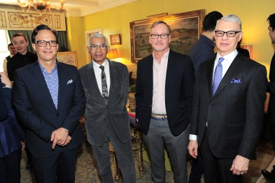 NEW YORK, NY - APRIL 17: Ben Rodriguez-Cubenas, Freddie Leiba, Doug Meyer and Roger Kluge attend Amy Fine Collins and Joanna Fisher Host Luncheon For Tabula Rasa Dance Theater at Private Residence on April 17, 2019 in New York. (Photo by Owen Hoffmann/PMC)